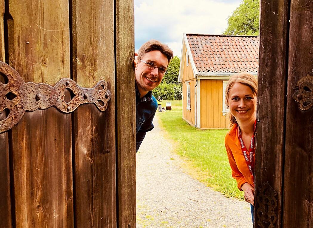 Ved Borgarsyssel museum i Sarpsborg er Jon Emil Halvorsen og Line Kjølberg spente på om det kommer folk. Kanskje blir dette sommeren da «alle» skal gå på museum?