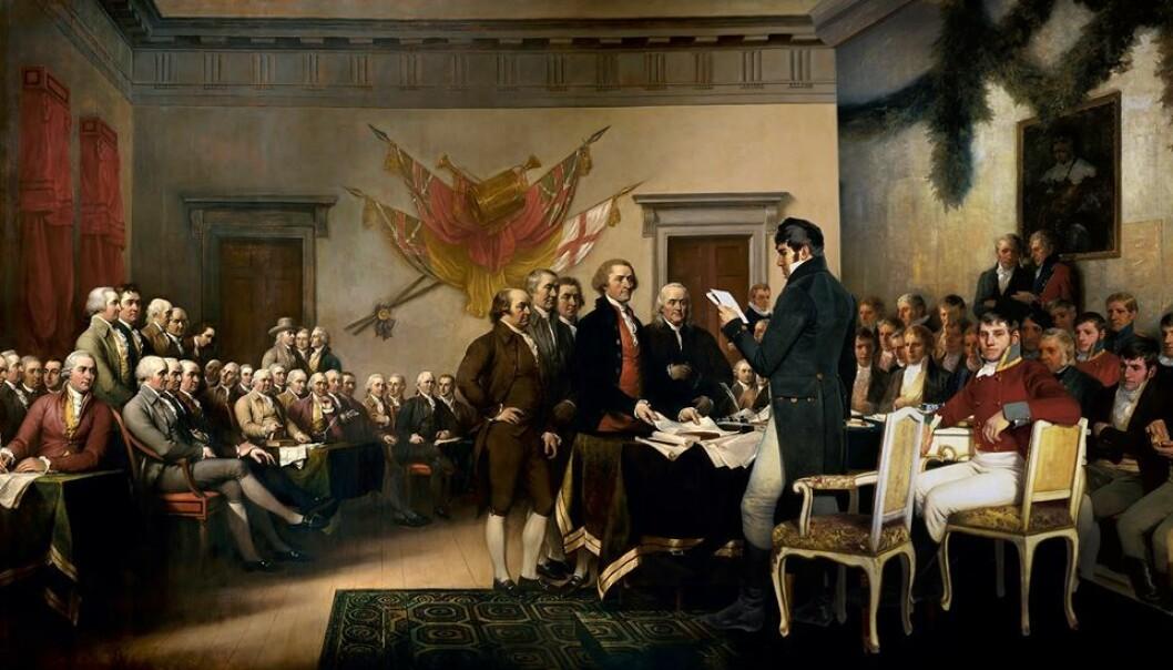 USA fikk sin grunnlov I 1787 og Norge i 1814. Dette er de to eneste grunnlovene fra revolusjonstiden for 200 år siden som fortsatt er i bruk. Og de henger nøye sammen. Dette får du høre mer om dersom du tar turen til museet Eidsvoll 1814 denne sommeren.