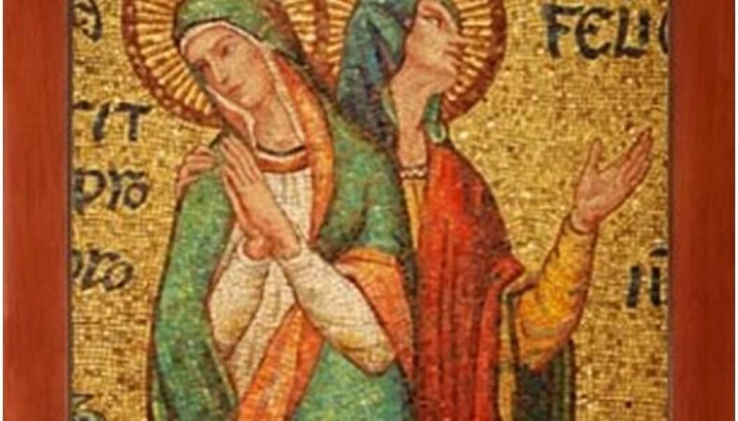 De tidlige kristne martyrene Perpetua og Felicitas. Martyrium presenteres i Bibelen som en tredje vei til frelse for kvinner, ved siden av barnefødsel og askese.