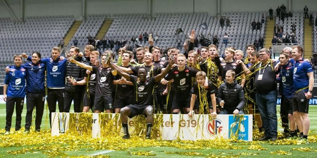 Sogndals lag som vant NM for G19 i 2018 etter å ha slått Rosenborg i finalen.