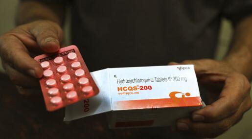 Malariamedisin fratas godkjenning i covid-19-behandling i USA