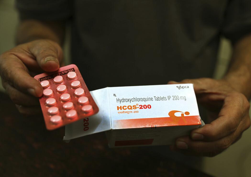Hydroksyklorokin ble godkjent i USa som følge av en nødsituasjon, men flere studier har vist at de ikke virker mot viruset.