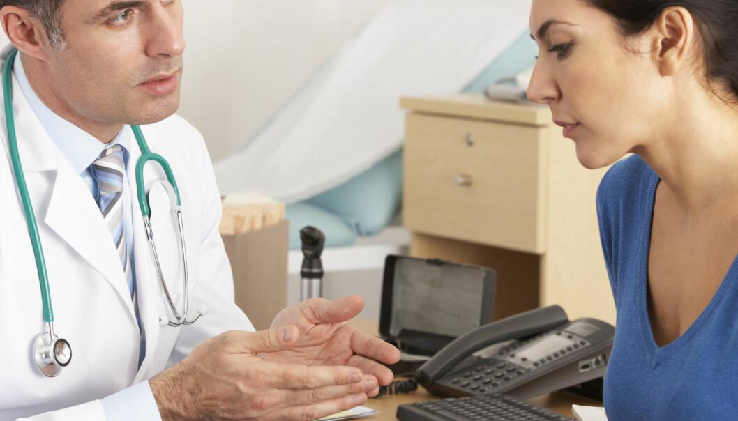 PC-skjermen kan forstyrre legen
