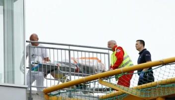 En skadet person blir fraktet med ambulansehelikopter til akuttavdelingen på Ullevål sykehus i Oslo 22. juli i fjor. Håkon Mosvold Larsen / Scanpix