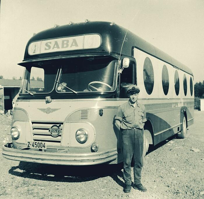 Saba-bussen var en viktig bidragsyter til å fjerne tabuer rundt menstruasjon. Her et bilde fra 1958.