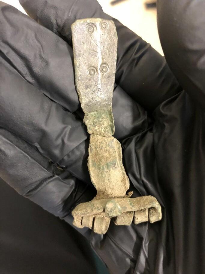 Buckle from Roman times, found by metal-detector user Steffen Hansen.