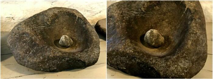 Skubbekvernen er den eldste kjente kverntypen i Norge og har kanskje vært her i landet så lenge som 6000 år. Den består av en skålformet stein (underligger) med en liten stein (løper) som skubbes frem og tilbake med håndkraft. Både korn, nøtter, røtter og andre ville vekster kunne knuses i skubbekvernen. Denne kverna er på museet i Egersund.