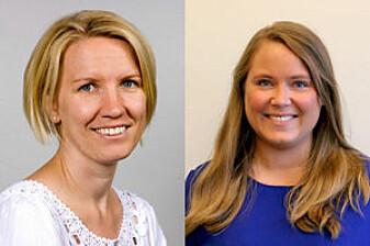 – Kreftcellene frå bukspyttkjertelen påverkar muskelcellene til å forbrenna mindre feitt, seier Solveig Astrid Krapf (t.v.) og Jenny Lund.