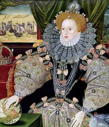 Dronning Elizabeth I av England dekket over koppearrene sine med tykke lag sminke. (Bilde: Wikimedia Creative Commons) (Foto: (Bilde: Wikimedia Creative Commons))
