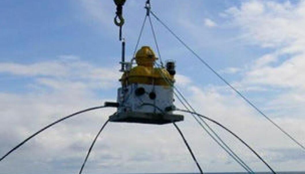 """""""Elektromagnetisk mottaker som plasseres på havbunnen."""""""