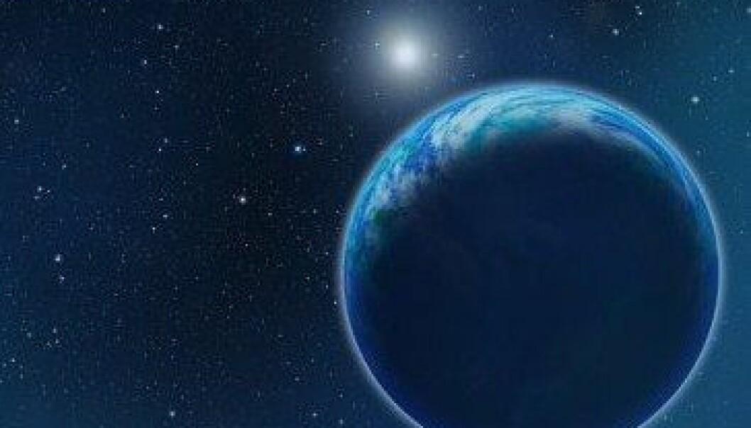Det skal være lettere å oppdage oksygen i atmosfæren til planeter som kretser rundt hvite dverger, viser en ny rapport. David A. Aguilar (CfA)