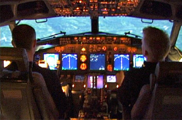 Boeing 737-simulator på SAS Flight Academy, Gardermoen. (Foto: Arnfinn Christensen, forskning.no)