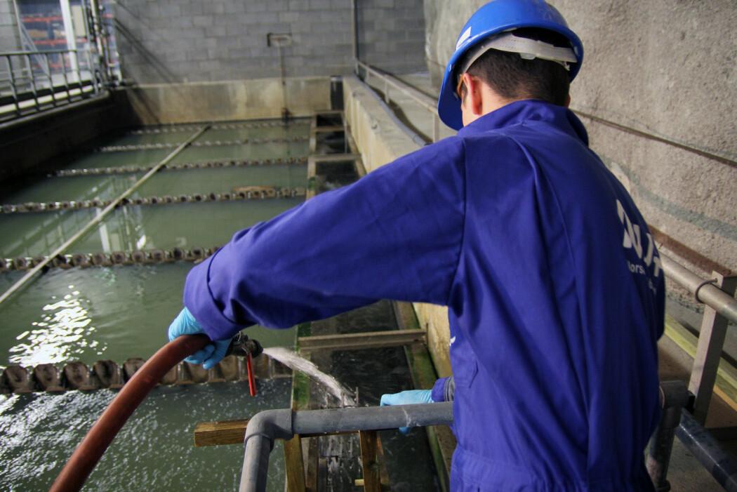 Illustrasjonsfoto fra Veas, Norges største vannrensingsanlegg på Slemmestad.