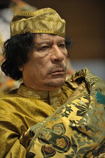 Muammar Gaddafi, avbildet i 2009. (Foto: US Navy/Wikimedia Creative Commons)