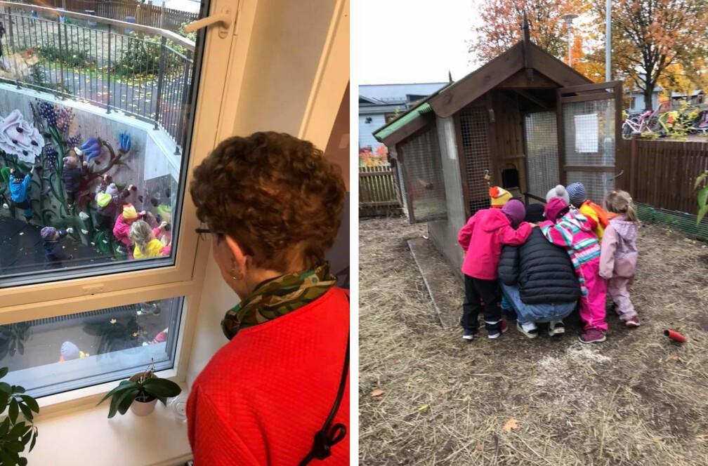 Seniorhuset på Tåsen i Oslo er opptatt av å legge til rette for generasjonsmøter.