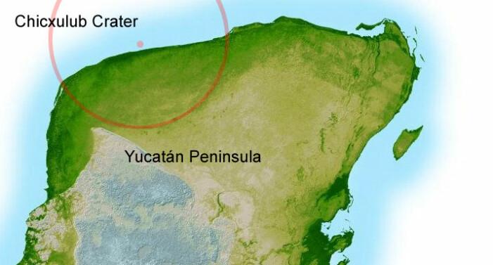 Her har flere undersøkelser vist at den flere titalls kilometer store asteroiden slo ned for 66 millioner år siden, i dagens Mexico.