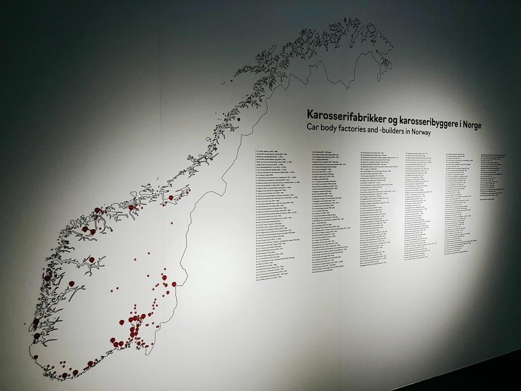 I nesten hele Norge er det drevet bygging av karosserier til biler, lastebiler og busser. Nå er 272 små og store fabrikker dokumentert på nye Norsk Kjøretøyhistorisk Museum.