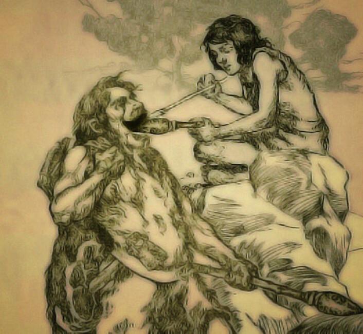 Spor av steinalderens tannlegekunst er funnet. (Foto: (Montasje: Per Byhring))
