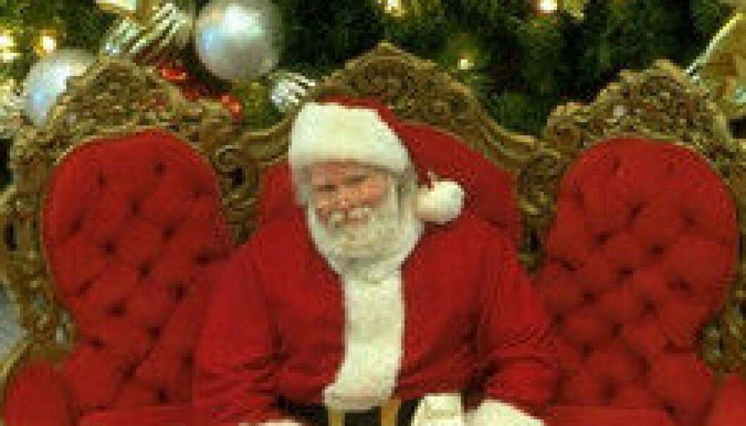 """""""Selv julenissen kan nok trenge en pust i bakken på det mest hektiske. Det blir mange gaver under treet i den moderne feiringen."""""""