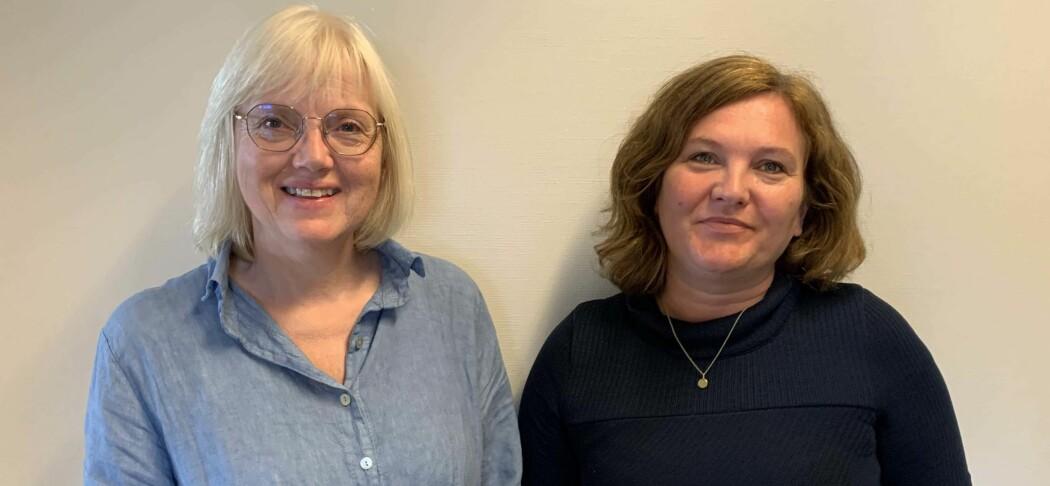 Universitetslektor Tove Ingebrigtsen (til venstre) og studieleder Kathrin Olsen ved Nord universitet har fått svar fra flere hundre barnehagelærerstudenter.