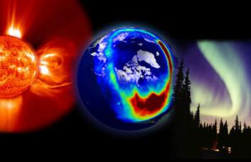 Enorme eksplosjoner på sola slynger store bobler av plasma ut i solvinden. Hvis disse treffer jorda vil de vekselvirke med jordas magnetfelt og atmosfære og føre til blant annet nordlys og forstyrrelser av satellittsignaler. (Foto: (Illustrasjon: ESA & NASA))