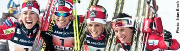 Norsk gullfest under Ski-VM 2011.