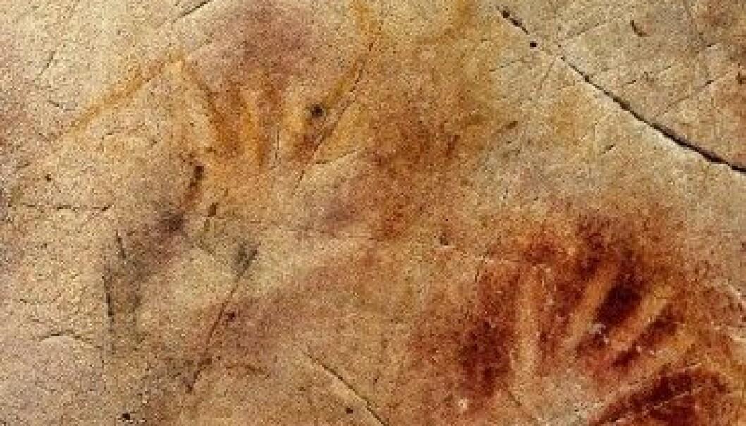 40 000 år gamle handavtrykk