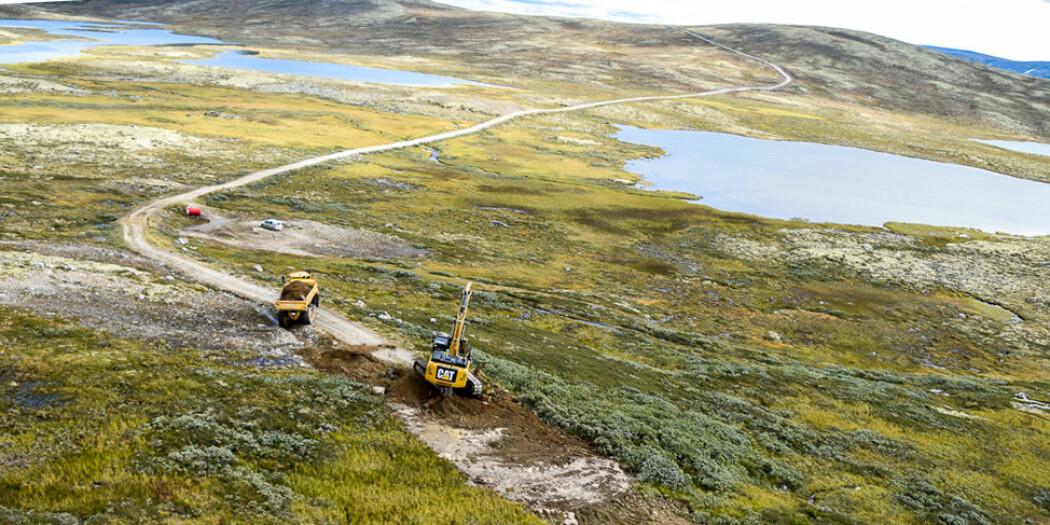 Nedbygging av areal er den viktigste trusselen mot naturmangfoldet. Her blir en vei blir fjernet.