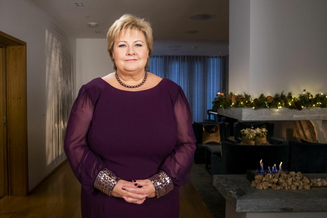 I nyttårstalen sin i 2019 snakket statsminister Erna Solberg om viktigheten av å få flere barn i Norge. Bildet er tatt ved en annen anledning