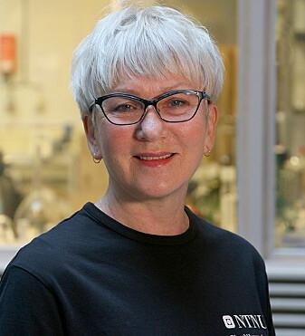 Teknisk glassblåser Astrid Salvesen.