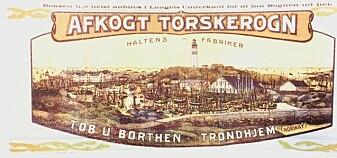 Torskerogn ble lagt i boks på Halten utenfor Frøya, selv om det står Trondhjem på boksen. Bruksanvisning fulgte med.