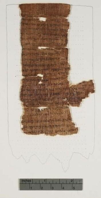 Nash-papyrusen er en av de tidligste kildene til de ti bud. (Foto: Cambridge University Library)