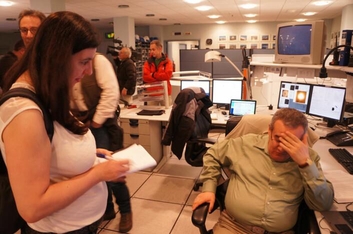 Valentin Ivanov gjør så godt han kan. Det gjør journalistene også. (Foto: Arnfinn Christensen)