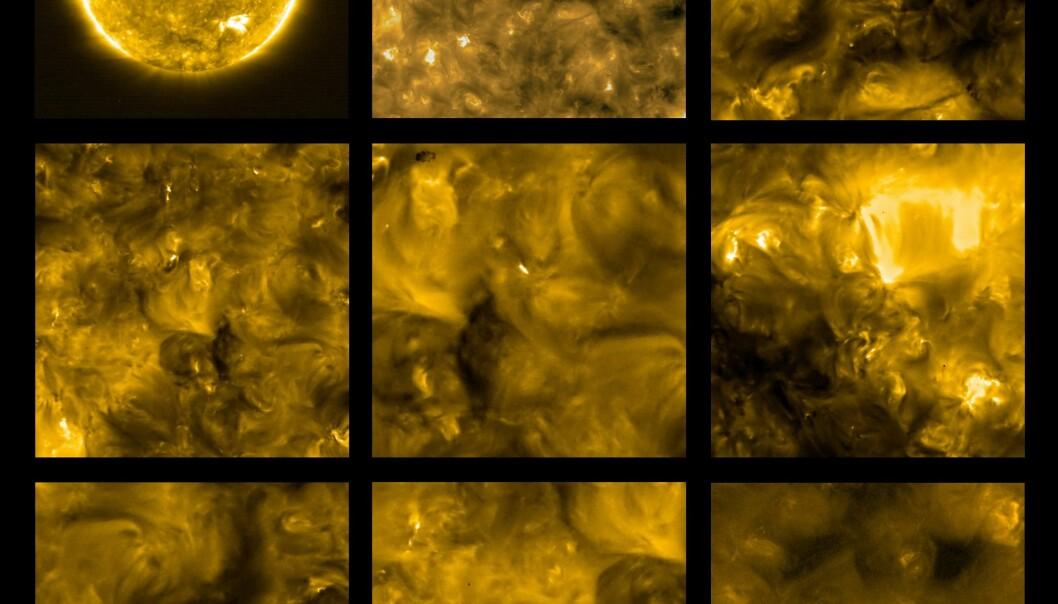 Nye bilder av sola viser mange små utrbrudd
