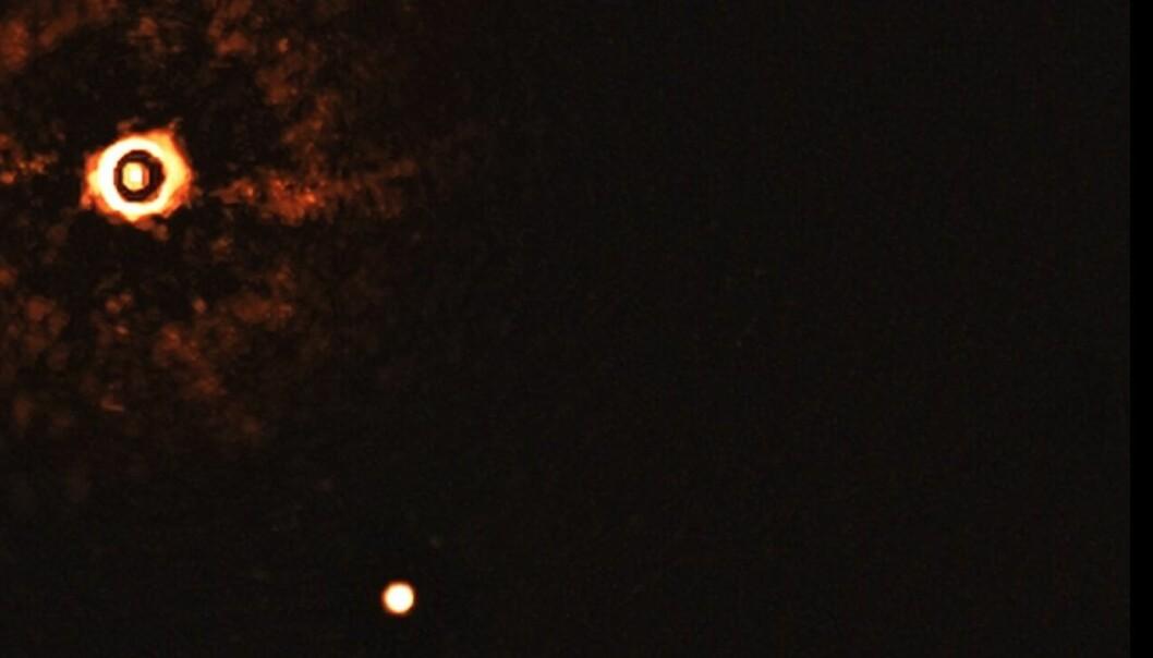 Dette er et bilde av et fremmed solsystem