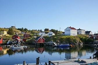 Kveldssola rakk å legge seg over Mausund før det bar tilbake til fastlandet.