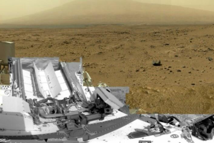 Curiosity har rulla rundt på Mars-overflata i 13 måneder, nå har den funnet vann. (Foto: NASA/JPL-Caltech/MSS)