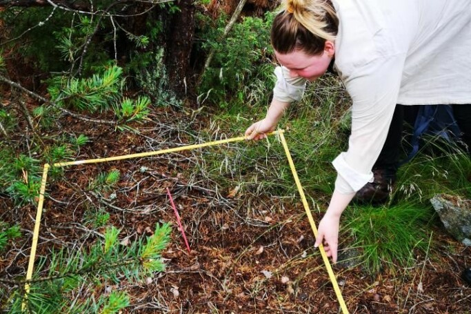 Mari Elisabeth Engelstad during field work at Hvaler, a community in the south-eastern part of Norway.