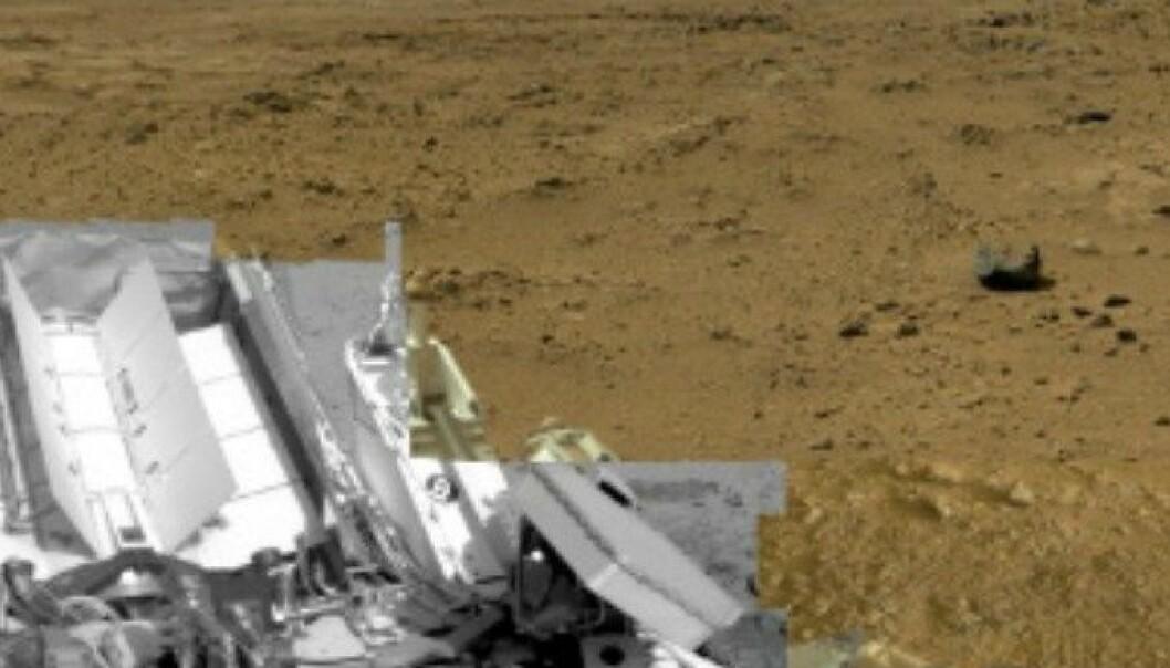 Curiosity har rulla rundt på Mars-overflata i 13 måneder, nå har den funnet vann. NASA/JPL-Caltech/MSS
