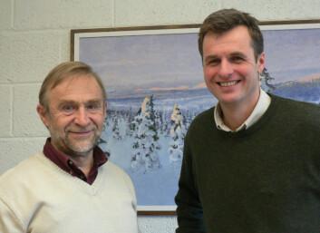 """""""Birger Solberg og Erik Trømborg (til høyre) har tro på bioenergi."""""""
