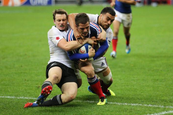 Rugby. De britiske koloniene elsker den voldsomme sporten, mens den aldri slo igjennom i de fleste kontinentaleuropeiske landene, hvor fotball i stedet dominererr. (Foto: Colourbox)