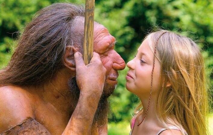 Deler av genomet vårt er rikt på neandertaler-gener. Andre deler av genomet vårt mangler felles gener med neandertalerne. (Foto: Neanderthal Museum, Mettmann)
