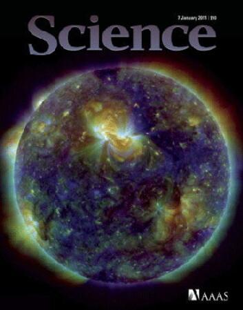Faksimile av forsiden på Science for januar 2011. (AAAS)