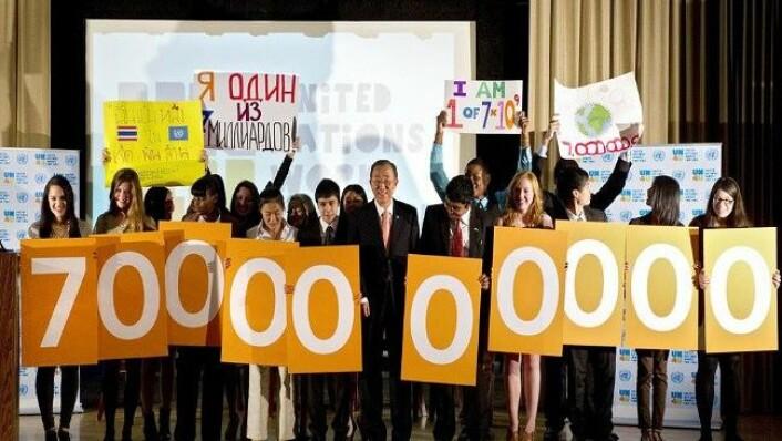 I 2011 vart vi 7 milliardar menneske i verda. (Foto: UN Photo/Eskinder Debebe)