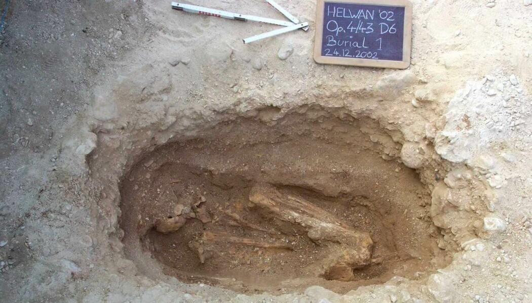 Denne mannen skal ha vært fra et lavere sosialt lag. Det var viktig at han var forberedt på livet etter døden og han ble derfor gravlagt med en matbit i den ene hånda.