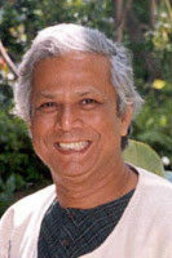 """""""Dr. Mohammad Yunus og Grameen Bank har fått Nobels fredspris for sitt arbeid med mikrofinans."""""""