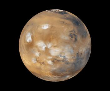 Organisasjonen Mars One vil grunnlegge en koloni på Mars, og allerede i år 2023 skal de første astronautene lande på planeten. Her skal de bo i lufttette hus som forsynes med oksygen og vann – begge deler skal utvinnes fra isen på Mars. (Foto: NASA)