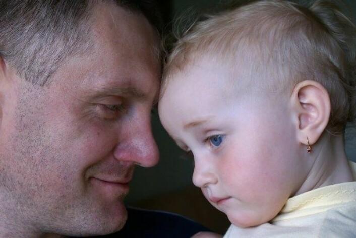 Barn av fedrar som er over 45 år har større risiko for psykisk sjukdom. (Foto: Yuriy Poznukhov/Colourbox)