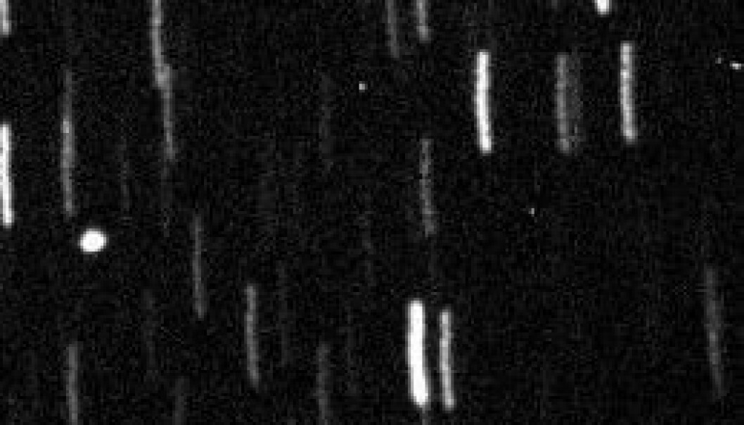 Asteroidepasseringa kunne følges direkte på internett via Slooh Space Camera Slooh