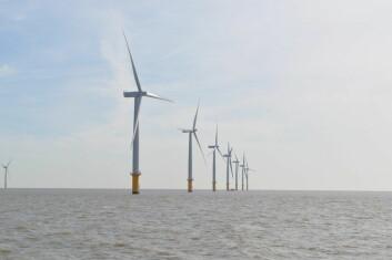 Britane ligg langt framme i utbygging av offshore vindkraft. Her frå Gunfleet Sands offshore vindkraftverk. (Foto: Ashley Dace/Wikipedia Commons)